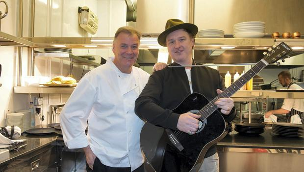 Derry Clarke and Mundy Pictured at the launch of The 'Killarney Festival of Music and Food' NO Reproduction Fee for First Use . . .  Photos by ? Michael Chester    087 8072295  info@chester.ie