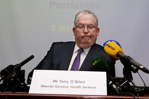 Tony O'Brien: 'The bulk of the events, not all of them, happened before I was in my present role. I came into this role at the request of the then Minister for Health to make a range of changes to the HSE'