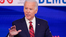 The Democratic Party's Joe Biden can focus on a head- to-head fight with President Donald Trump. Photo: AP