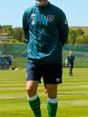 Roy Keane is keeping the focus on tomorrow's game DAVID MAHER / SPORTSFILE