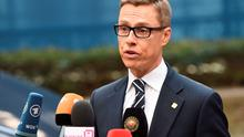 Finnish Prime Minister Alexander Stubb at the European Union (EU) Headquarters in Brussels.  Photo:AFP/Getty Images