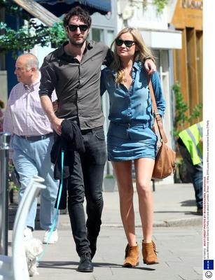 Laura Whitmore and Danny O'Reilly out and about in London. Picture: REX