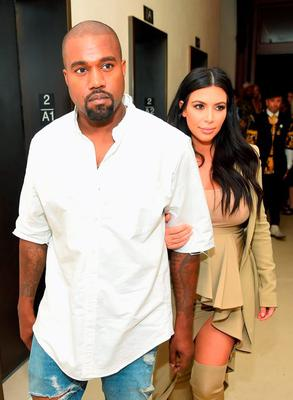(L-R) Kanye West and Kim Kardashian-West attend the Rihanna Party at The New York Edition on September 10, 2015 in New York City.  (Photo by Michael Loccisano/Getty Images for EDITION)