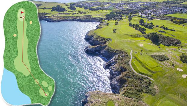 The 6th hole in Wicklow is 406 yards and par 4 and is number 50 on our list.
