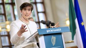 """Helping hand: Education Minister Norma Foley says the process of awarding grades to this year's Leaving Cert students will be """"accurate and reliable"""", but it has not worked elsewhere. Photo: Julien Behal"""