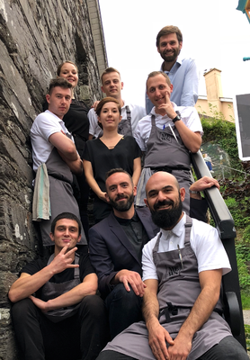 The staff of Mews restaurant in Baltimore, Cork