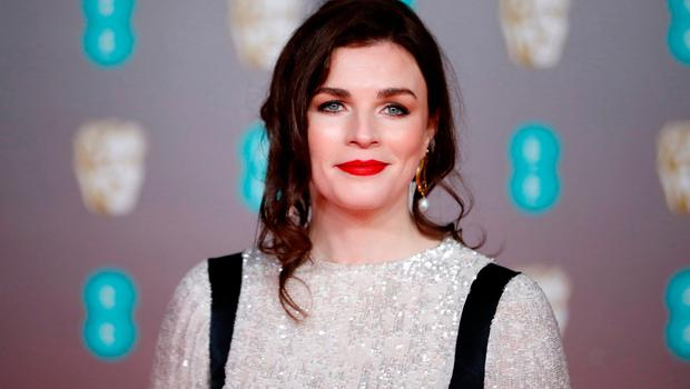 Irish actress Aisling Bea poses on the red carpet upon arrival at the BAFTA British Academy Film Awards at the Royal Albert Hall in London. Photo: TOLGA AKMEN/AFP via Getty Images