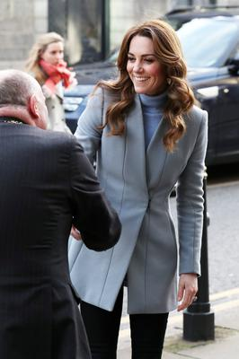 Britain's Catherine, Duchess of Cambridge, visits the Social Bite cafe in Aberdeen, Scotland, February 12, 2020. Andrew Milligan/Pool via REUTERS
