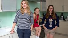 Tanith Carey, author of 'Taming the Tiger Parent', at her home with daughters Lily, 12, and Clio, aged nine.