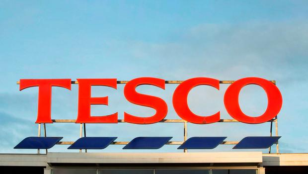 File photo dated 05/02/15 of a Tesco sign as the supermarket could report a multi-billion pound annual loss this week as it undergoes the latest phase of its shake-up under new boss Dave Lewis. PRESS ASSOCIATION Photo. Issue date: Monday April 20, 2015. See PA story CITY  Tesco. Photo credit should read: Danny Lawson/PA Wire