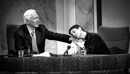 Talking points: Gay Byrne and Sinead O'Connor in 1999. Photo: David Conachy