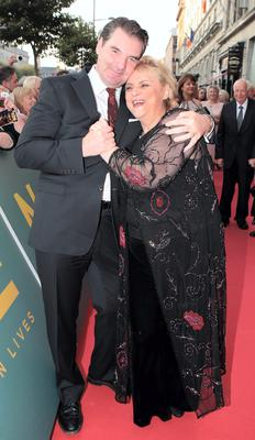 Christina Noble and actor Brendan Coyle  at The Irish Gala Screening of NOBLE  at the Savoy Cinema on O'Connell Street, Dublin Pictures: Brian McEvoy