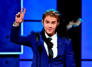 Honoree Justin Bieber speaks onstage at The Comedy Central Roast of Justin Bieber at Sony Pictures Studios