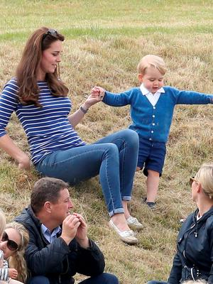 TETBURY, ENGLAND - JUNE 14:  Catherine Duchess of Cambridge attends the Gigaset Charity Polo Match with Prince George of Cambridge at Beaufort Polo Club on June 14, 2015 in Tetbury, England.  (Photo by Chris Jackson/Getty Images)