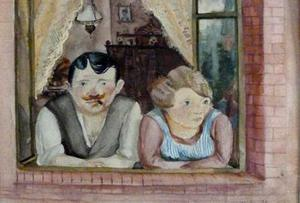 'Man And Woman At A Window' by Wilhelm Lachnit, one of the many artworks found in the Munich residence of Cornelius Gurlitt. Photo: Lost Art Koordinierungsstelle Magdeburg via Getty Images