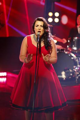 """Embargoed until 10:45pm Repro Free: 28/02/2013 Laura O'Neill pictured performing her song """"You Don't Remember Me"""" during the Late Late Eurosong special. Picture Andres Poveda"""