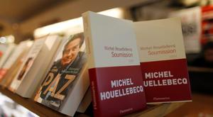 """The book """"Soumission"""" (meaning """"Submission"""") by French author Michel Houellebecq is displayed in a bookstore in Paris. Reuters/Jacky Naegelen"""