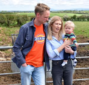 Life is now good for Adam Watson with wife Laura and young son Abel. PICTURE: Chris McCullough