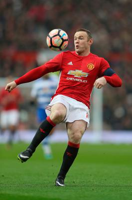 Wayne Rooney in action during the match between Manchester United and Reading at Old Trafford (Photo by Mark Thompson/Getty Images)
