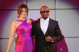 Idina Menzel and Taye Diggs in 2012