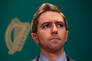 Health Minister Simon Harris at a news conference at Government Buildings in Dublin Photo credit: Brian Lawless/PA Wire