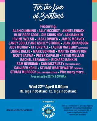 For The Love Of Scotland lineup.