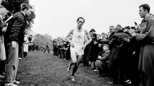 Tom O'Riordan in action during the 1966 Amateur Athletic Union and NACA Championship in Gormanston. Photo: Connolly Collection/Sportsfile