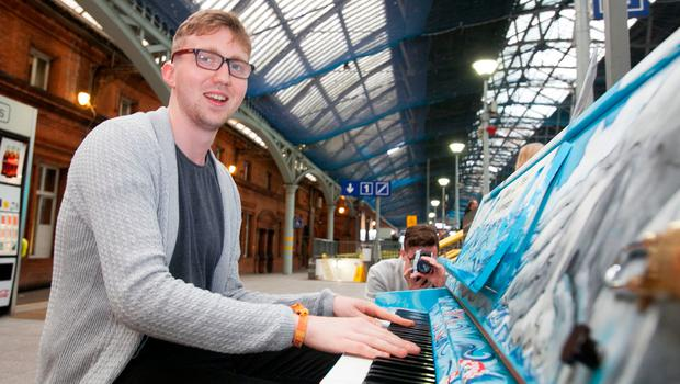 Eoin Butterfield turned in a first-class performance on the Pearse Street piano. Photo: Gareth Chaney Collins