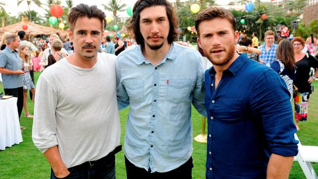(L-R)  Actors Colin Farrell, Adam Driver and Scott Eastwood attend the Taste of Summer Opening Night Party during the 2015 Maui Film Festival at Grand Wailea on June 3, 2015 in Wailea, Hawaii.  (Photo by Andrew Goodman/Getty Images for Maui Film Festival)
