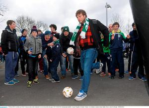 Love/Hate actor Peter Coonan in action at the Continental Tyres Fan Zone before the game