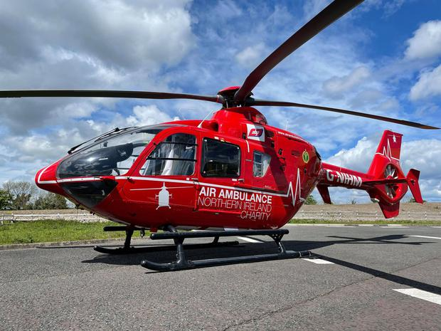 Mr Jamison was rushed by Air Ambulance to hospital