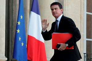 French Prime Minister Manuel Valls arrives at the Elysee Palace in Paris. Photo: Reuters