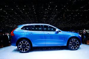The new Volvo XC60 car is seen during the 87th International Motor Show at Palexpo in Geneva, Switzerland, March 7, 2017. REUTERS/Denis Balibouse