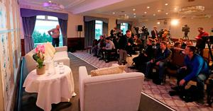 Media at The Culloden Estate and Spa in Holywood, Belfast, ahead of a press conference to announce the couple who have scooped a £115 million EuroMillions jackpot in the New Year's Day lottery draw. Liam McBurney/PA Wire