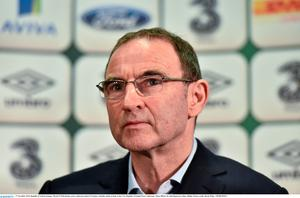 Martin O'Neill during a press conference ahead of tonight's friendly match at home to the USA