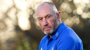 Leinster scrum coach Robin McBryde reports that Dan Leavy is close to a full return from his long-term injury and could make his comeback this month. Photo: Sportsfile