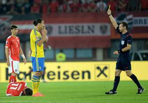 Clearly wound up, Ibrahimovic was booked two minutes later