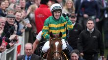 Tony McCoy on Uxizandre celebrates after winning the 14:40 Ryanair Chase Action Images via Reuters / Matthew Childs