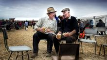Pat Gorman and James McGahon at the annual Knockbridge, Co Louth  Vintage day on Sunday.