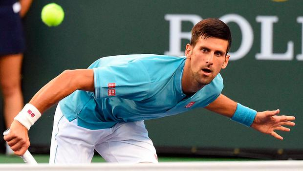 Novak Djokovic during his second round match against Kyle Edmund in the BNP Paribas Open at the Indian Wells Tennis Garden. Photo: Jayne Kamin-Oncea-USA TODAY Sports