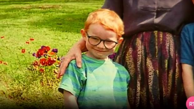 A childhood picture of Ed Sheeran courtesy of his grandmother Nancy on RTE
