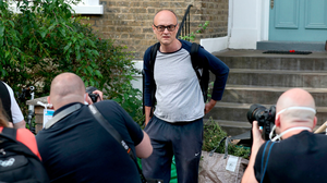 In focus: Dominic Cummings leaves his north London home under media scrutiny yesterday. PHOTO: PA