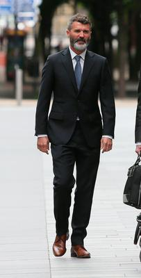 Ex-Manchester United footballer Roy Keane arrives at Manchester Magistrates' Court, where he will go on trial over an alleged road-rage incident with taxi driver Fateh Kerar. PRESS ASSOCIATION Photo. Picture date: Friday June 19, 2015. Keane, 43, is said to have behaved aggressively towards the cabbie near traffic lights in Ashley Road, Altrincham, on January 30. Keane will be in the dock at Manchester Magistrates' Court accused of causing harassment, alarm or distress to Mr Kerar - a Section 4A Public Order offence. See PA story COURTS Keane. Photo credit should read: Peter Byrne/PA Wire