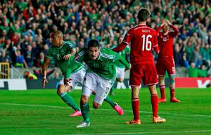 Kyle Lafferty celebrates after scoring the first goal for Northern Ireland Action Images via Reuters / Jason Cairnduff Livepic
