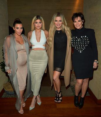 Khloe Kardashian with her family earlier this week