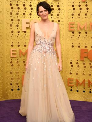 British actress Phoebe Waller-Bridge arrives for the 71st Emmy Awards at the Microsoft Theatre in Los Angeles on September 22, 2019. (Photo by VALERIE MACON / AFP)VALERIE MACON/AFP/Getty Images