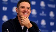 Europe's Justin Rose during a press conference at Gleneagles