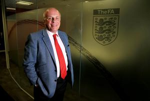 """Greg Dyke, who said the FA had nominated rival Prince Ali bin al-Hussein of Jordan as the next president, said: """"We should stress this morning's developments are very serious for Fifa and its current leadership. Nick Potts/PA Wire."""