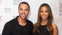 Marvin Humes and Rochelle Humes attend the nominations launch for The Brit Awards 2015 at ITV Studios on January 15, 2015 in London, England.  (Photo by Ian Gavan/Getty Images)