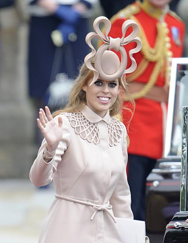Princess Beatrice pictured at Kate and William's wedding